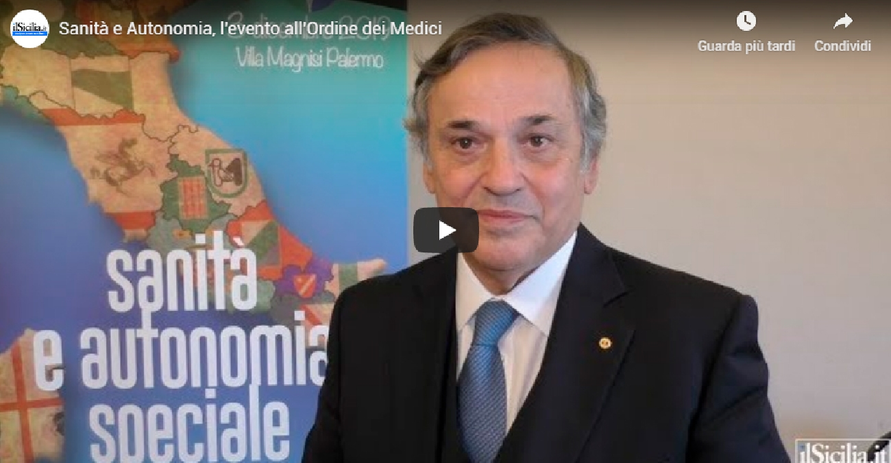 Video IlSicilia.it - Sanità e Autonomia, l'evento all'Ordine dei Medici